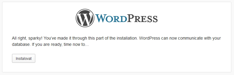 Instalace WordPress krok 4